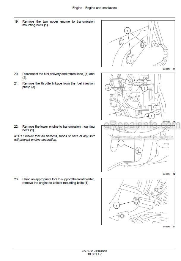 Software Automotive 140A Tractor Workshop Repair Service Manual ...